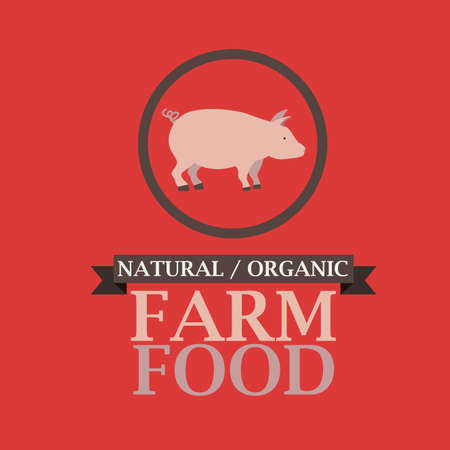 Farm design over red background, vector illustration Vector