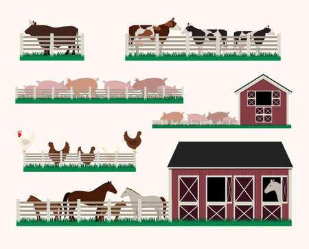Barn design over white background, vector illustration Vector