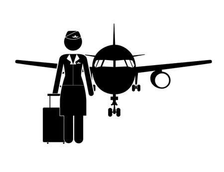 Occupations design over white background, vector illustration