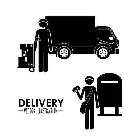 Delivery design over white background,vector illustration Stock Vector - 28491217