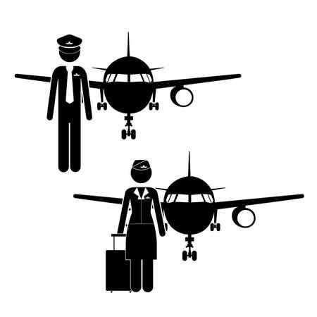 Ocupations design over white background, vector illustration