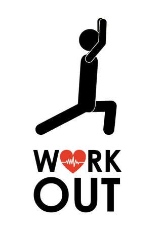 Fitness design over white background, vector illustration Illustration