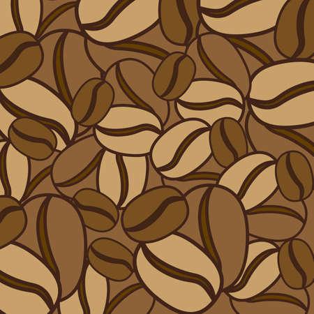 Diseño del café sobre fondo marrón, ilustración vectorial