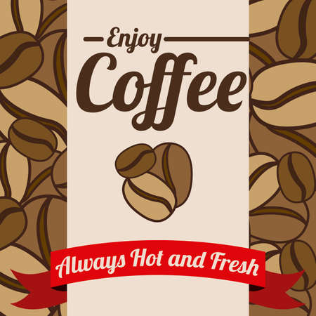 Coffee design over brown background, vector illustration Vector