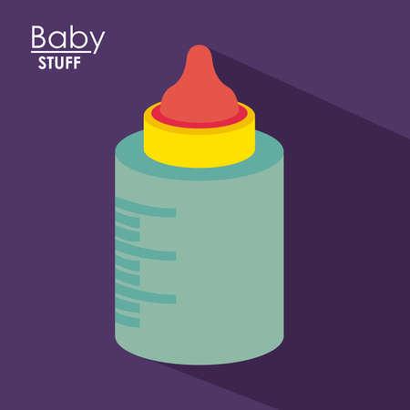 stuff toys: Baby design over purple background, vector illustration Illustration
