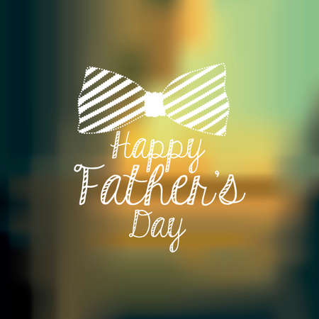 Fathers day design over blur background, vector illustration