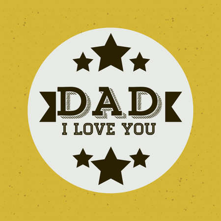 yelllow: Fathers day design over yelllow background, vector illustration