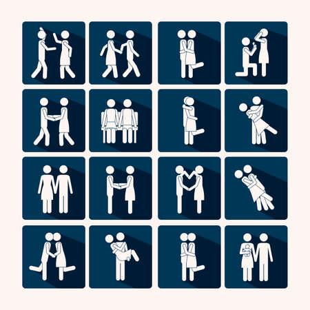 heterosexuality: Love design over background,vector illustration
