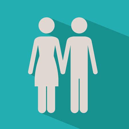 heterosexuality: Love design over blue background,vector illustration