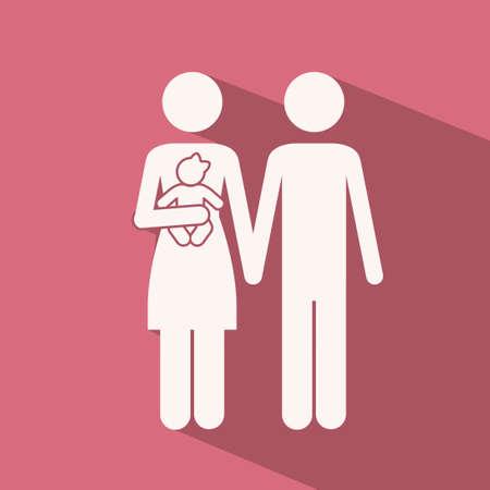 heterosexuality: Love design over pink background,vector illustration