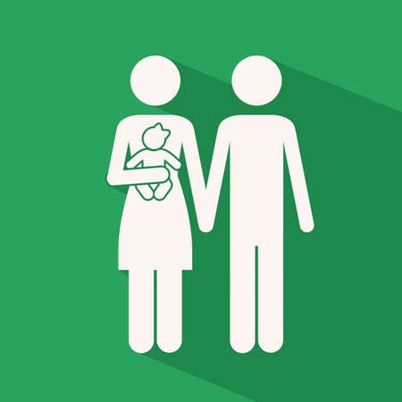 heterosexuality: Love design over greenbackground,vector illustration