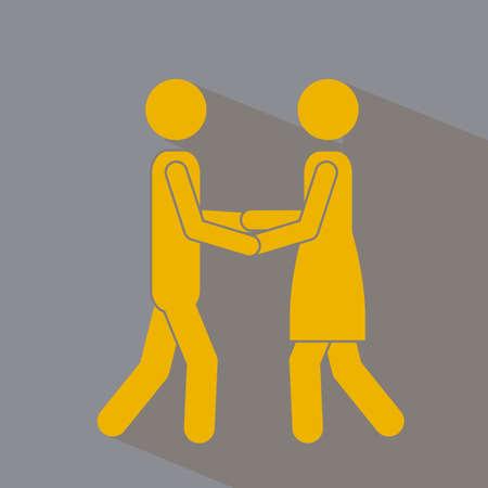 heterosexuality: Love design over gray background,vector illustration