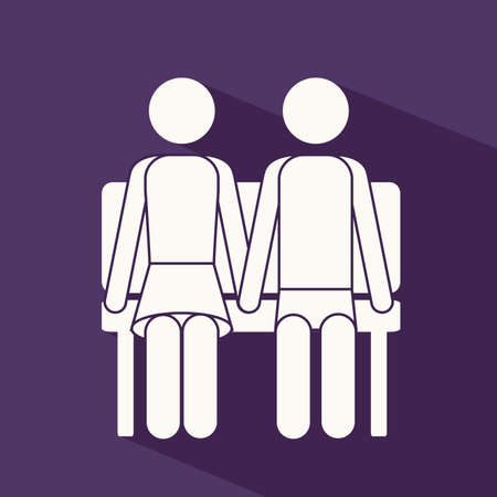 heterosexuality: Love design over purple background,vector illustration