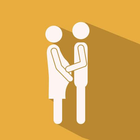 heterosexuality: Love design over yellow background,vector illustration