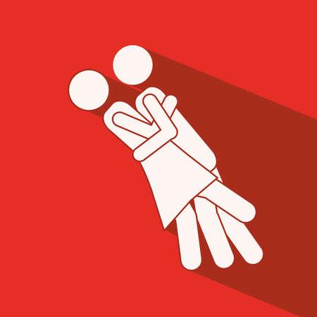 heterosexuality: Love design over red background,vector illustration