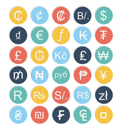 cent: Currencies design over  white background, vector illustration Illustration