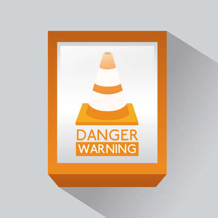 Danger design over gray background, vector illustration Stock Vector - 29423873