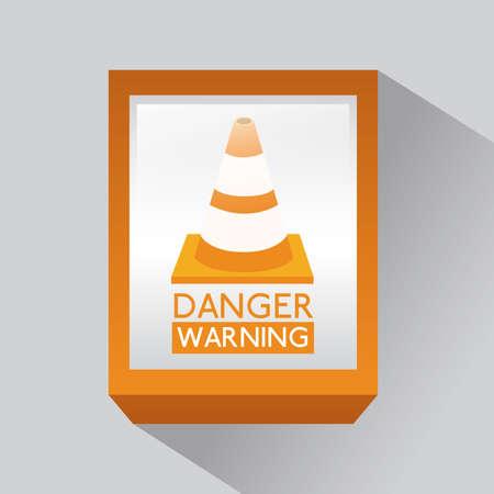 Danger design over gray background, vector illustration Stock Vector - 29423873