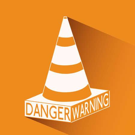 Danger design over orange background, vector illustration Stock Vector - 29423933