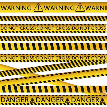 Gefahr Design auf weißem Hintergrund, Vektor-Illustration