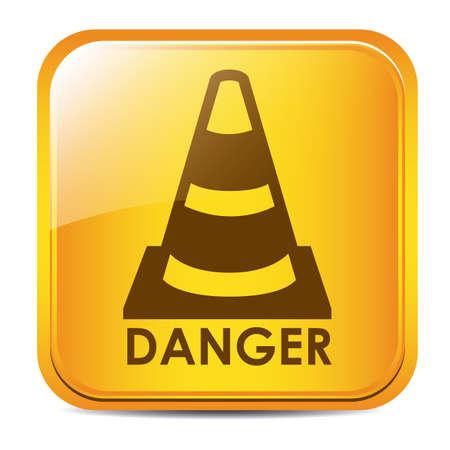 Danger design over white background, vector illustration Stock Vector - 29423939