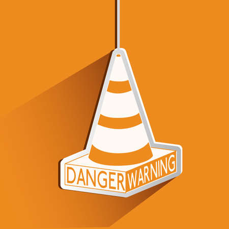 Danger design over orange background, vector illustration Stock Vector - 29424008