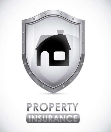 insured: Security design over white background, vector illustration