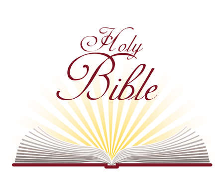 Holy bible design over white background, vector illustration Vector