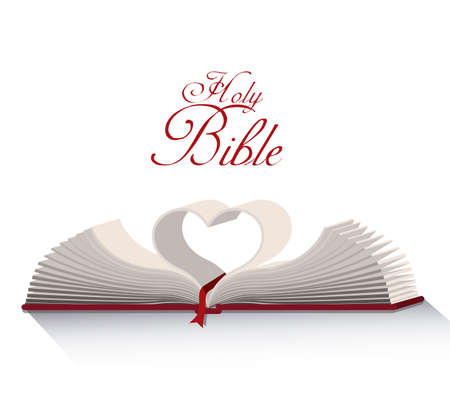 Holy bible design over white background, vector illustration Vector