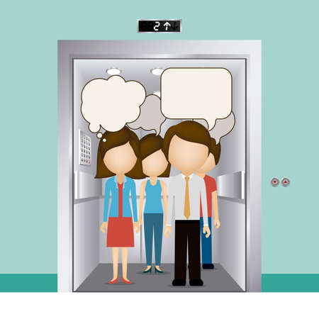 Elevator design over blue background, vector illustration Ilustração