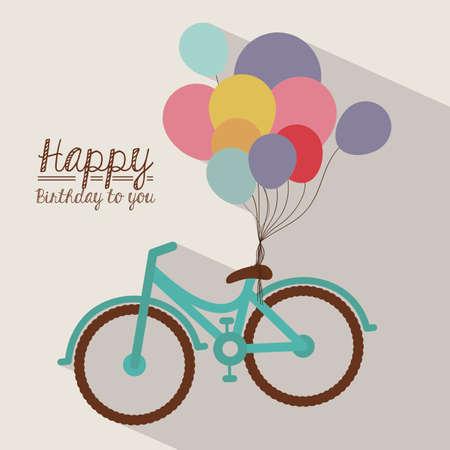 Birthday design over white background, vector illustration Vector