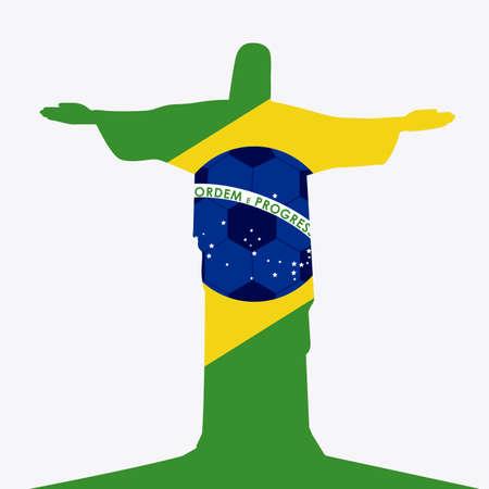 Brazil design over white background, vector illustration Vector