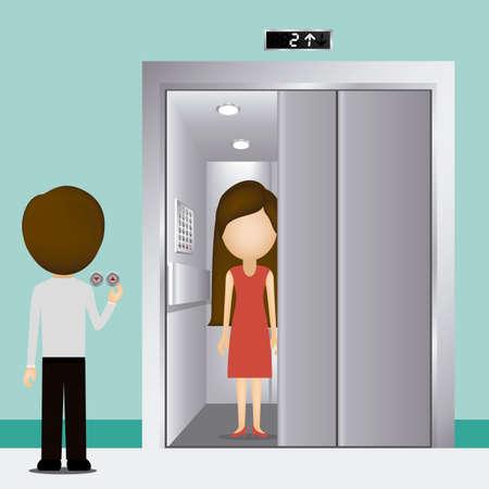 Elevator design over blue background, vector illustration Vector