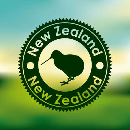 New zealand design over blur background, vector illustration Illustration