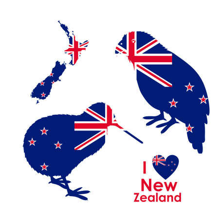 New zealand design over white background, vector illustration Illustration