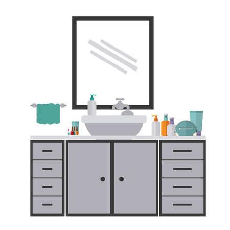 mirrow: House design over white background, vector illustration Illustration