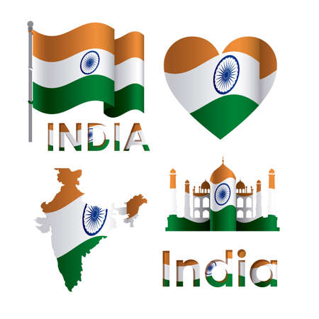 India design over white background, vector illustration Vector