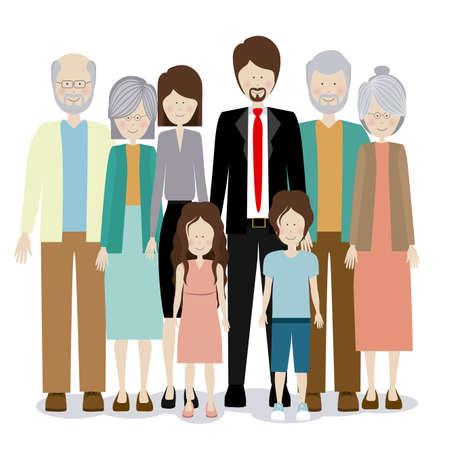 familia unida: Dise�o de Familia sobre el fondo blanco, ilustraci�n vectorial Vectores