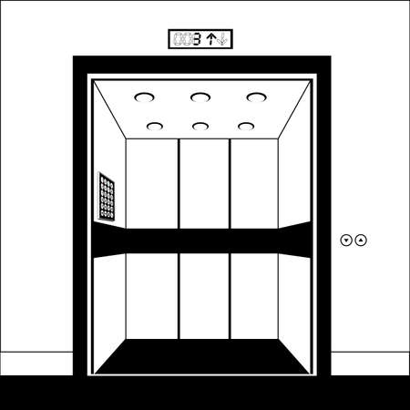 Elevator design over white background, vector illustration Vector
