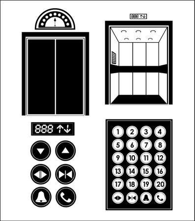 Elevator design over white background, vector illustration Illustration