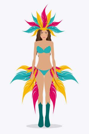 Brazil design over white background, vector illustration