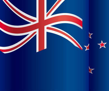 New zealand design over blue background, vector illustration Vector