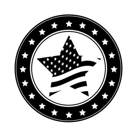 us flag: USA design over white background, vector illustration Illustration