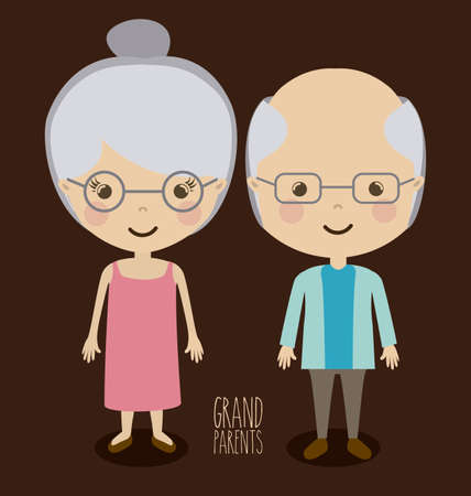 Family design over brown background, vector illustration