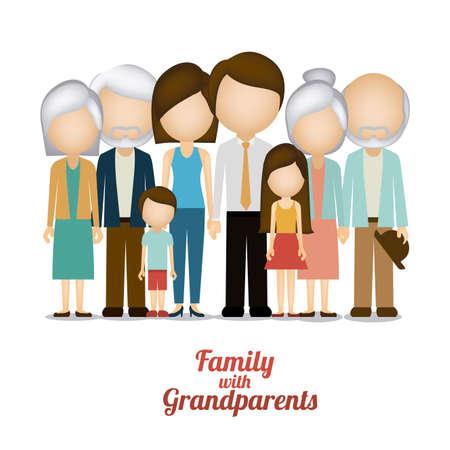 cartoon dad: Family design over white background, vector illustration Illustration