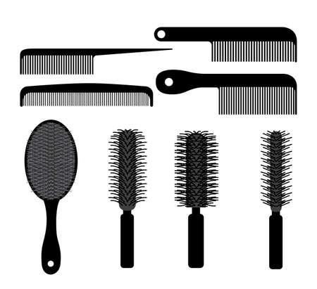 Hair saloon design over white background, vector illustration