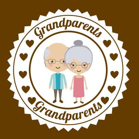 Großeltern-Design über beige Hintergrund, Vektor-Illustration Standard-Bild - 30456516