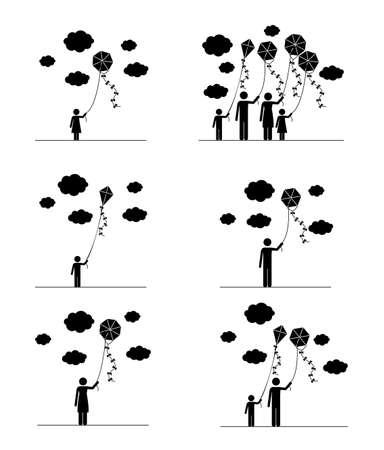 Kite design over white background, vector illustration Vector