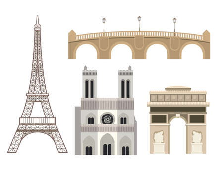 Paris design over white background, vector illustration Vector