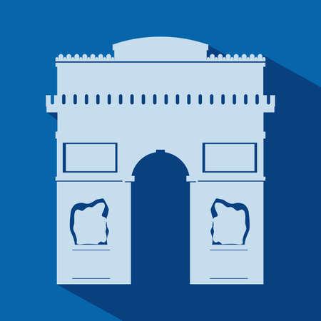 french culture: Paris design over blue background, vector illustration
